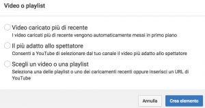 video youtube annotazioni