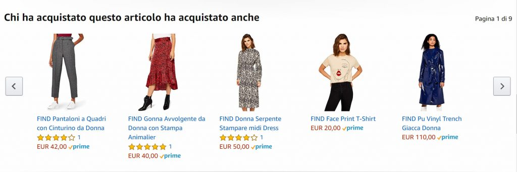 esempio cross selling amazon