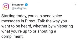 instagram voice message