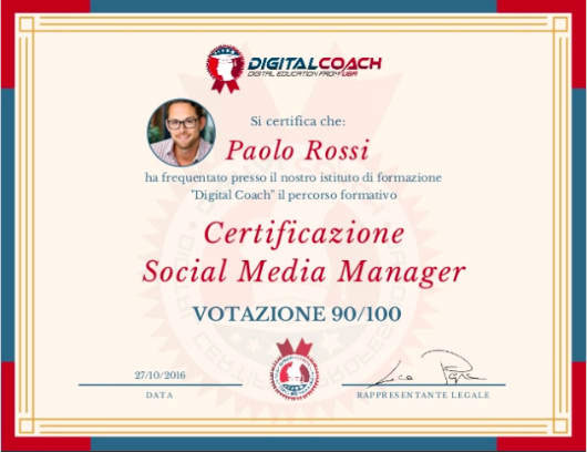 Certificazione Corsi Social Media Marketing