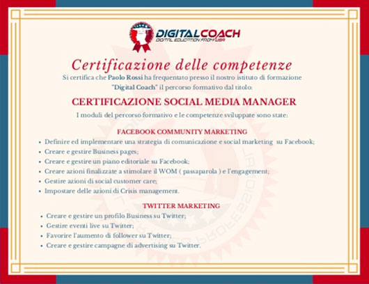 Competenze Corsi Social Media Marketing