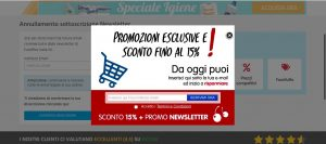 Thank you page iscrizione newsletter