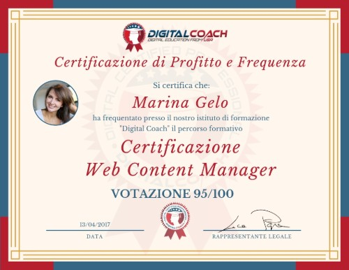 certificazione web content manager