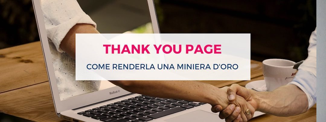 Thank you page - evidenza