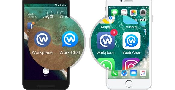 Facebook Workplace App per Ios e android