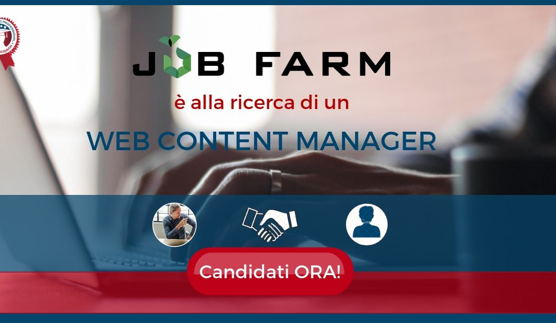 Web Content Manager - Roma - Job Farm