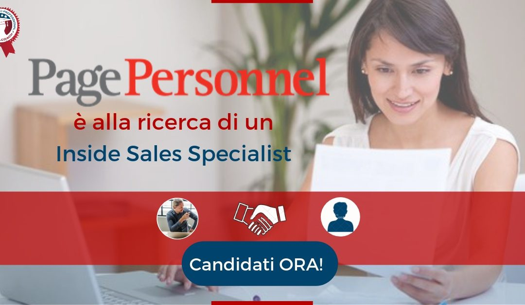 Inside Sales Specialist - Milano - Page Personnel