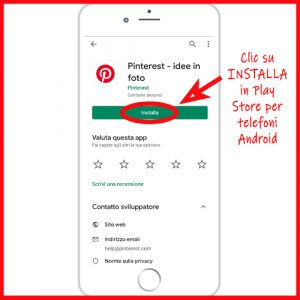 utilizzare pinterest in ANDROID