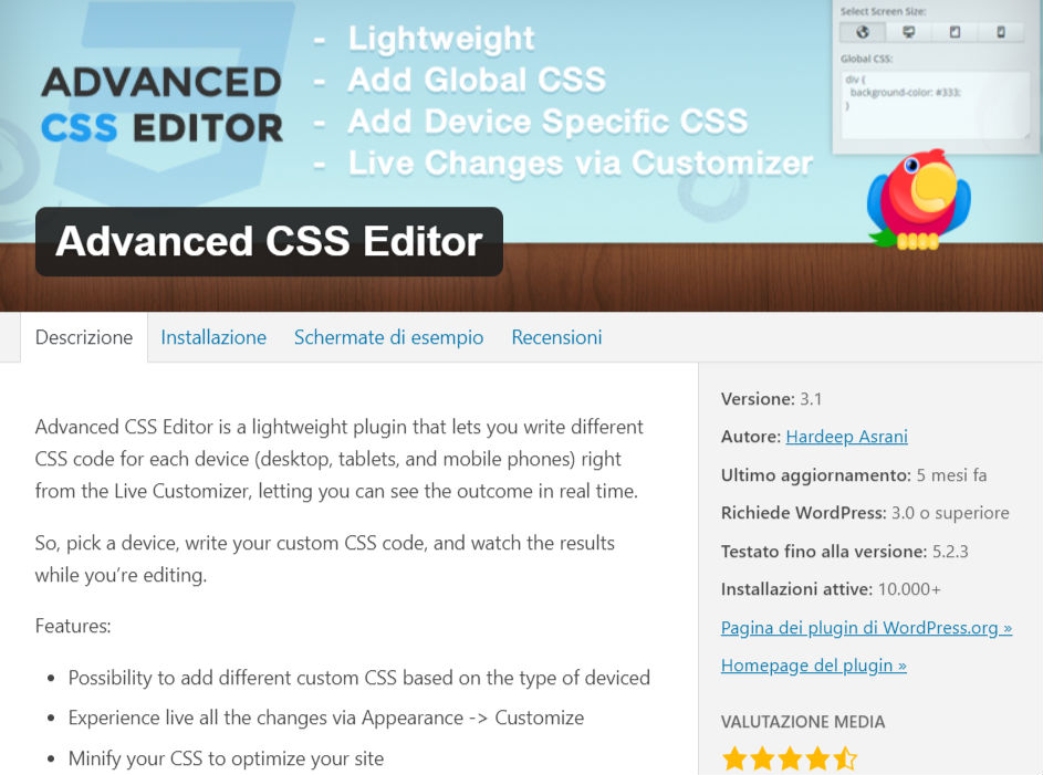 CSS wordpress plugin n.2