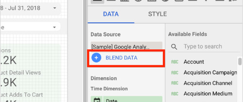template google data studio