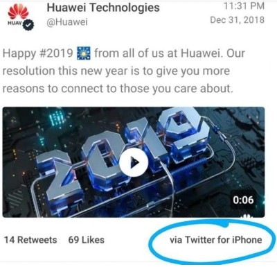 Huawei epic fail instant marketing