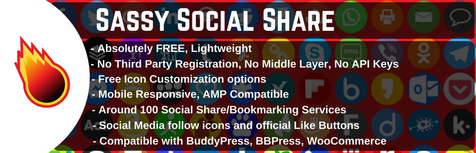 plugin Sassy Social Share per WordPress, logo e descrizioni