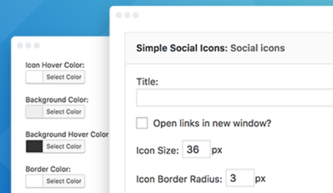 schermata plugin Simple Social Icons