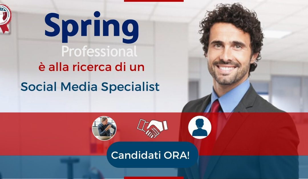 Social Media Specialist - Arezzo - Spring Professional