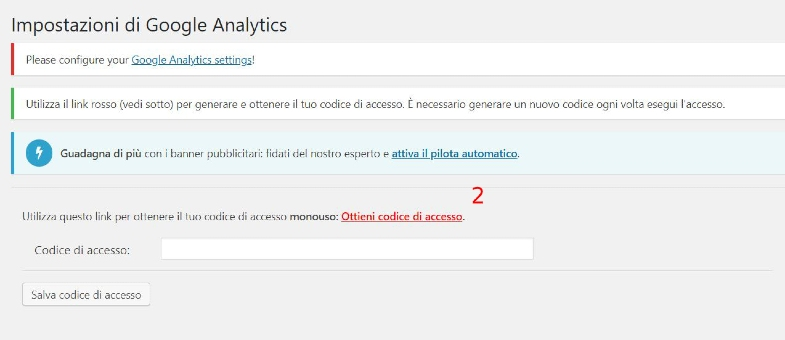 Codice Analytics Tracking