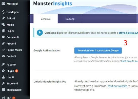 Google Analytics Tracking Code MonsterInsights Account