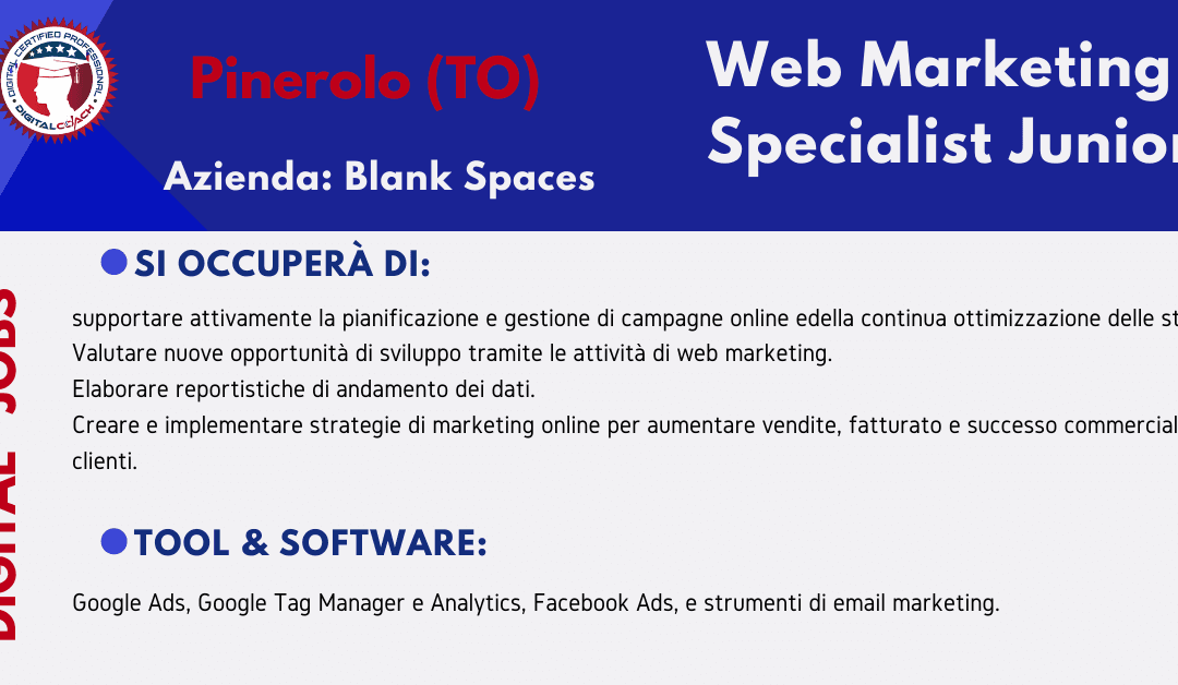Blank Spaces web marketing specialist