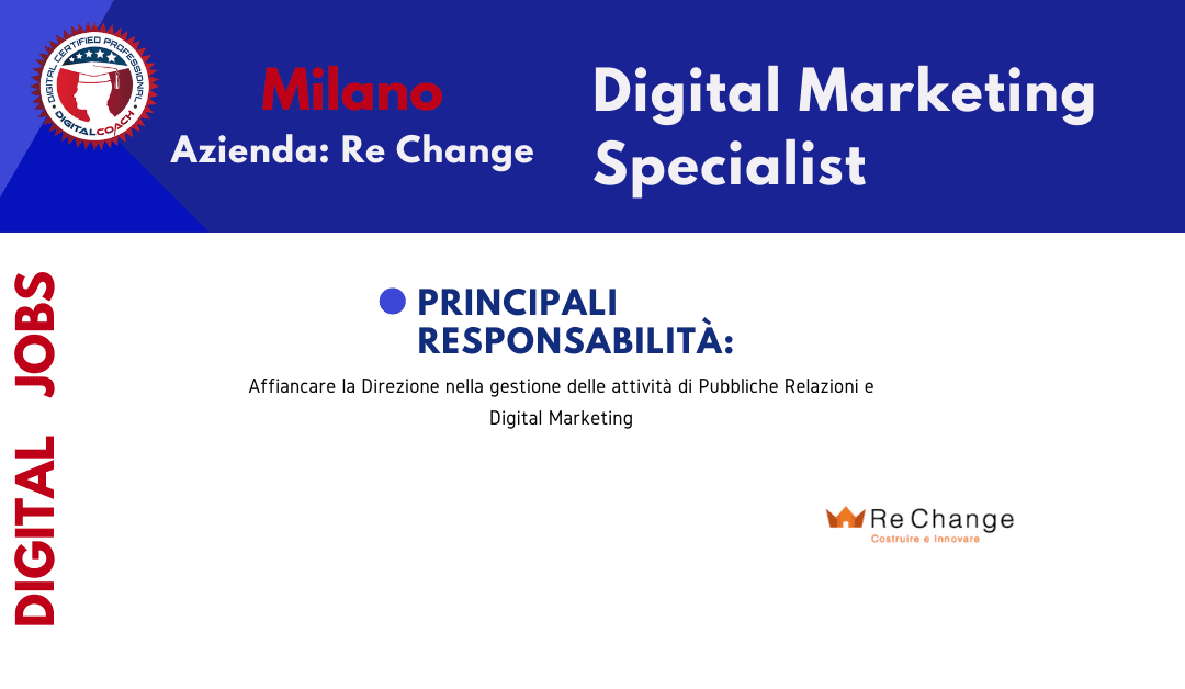 annuncio offerta lavoro digital marketing specialist freelance milano