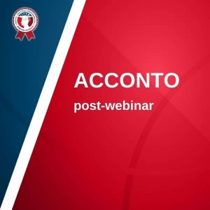 acconto post-webinar