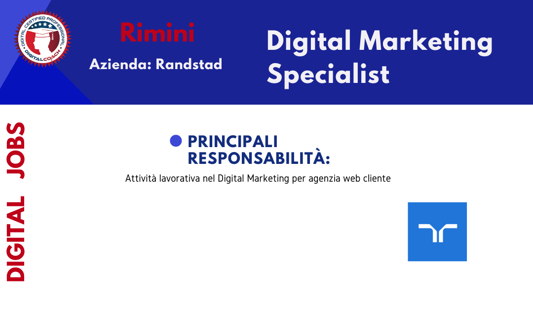annuncio offerta lavoro digital marketing manager fulltime rimini